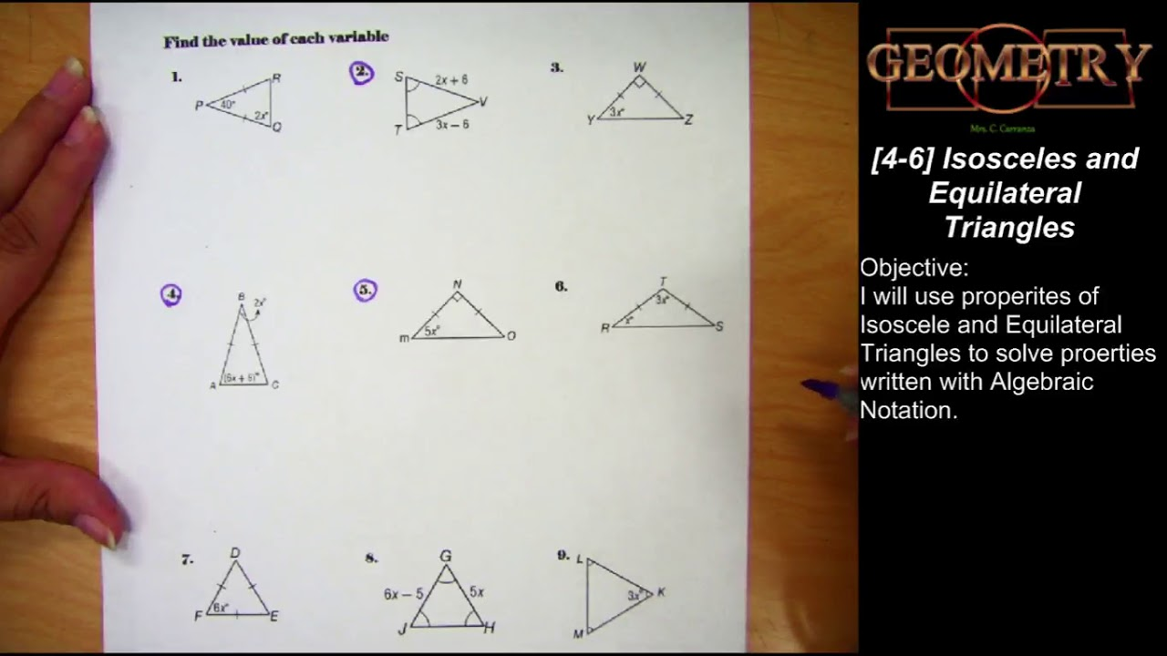 4-6] Isosceles & Equilateral Triangle - YouTube