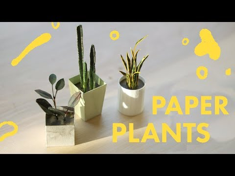 How to make Paper Plants ・ (Watercolor Painting)