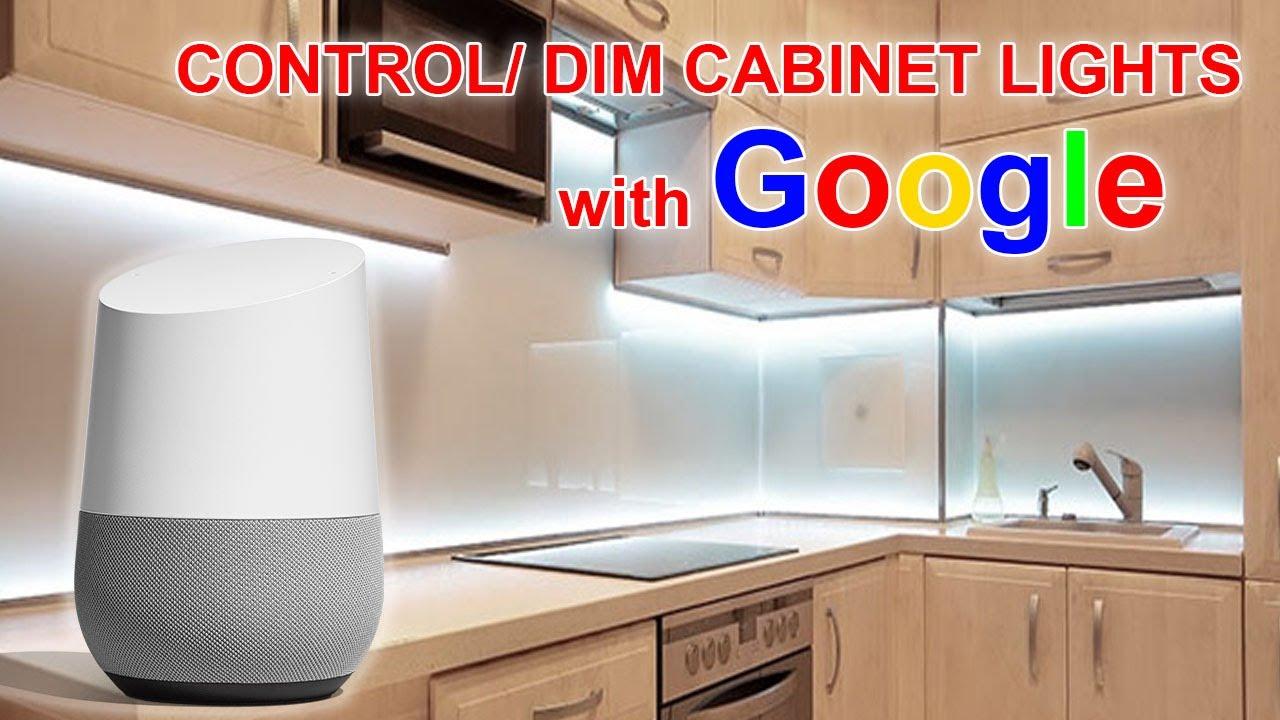 smart kitchen cabinet lighting google or alexa
