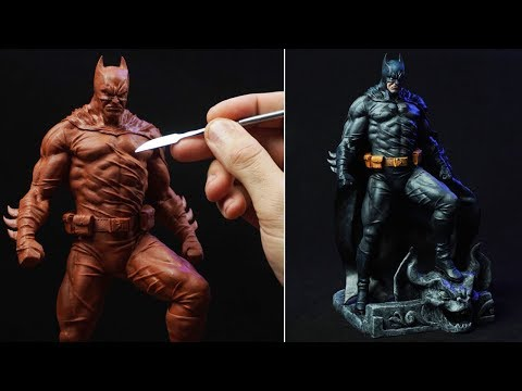 Sculpting BATMAN | Bruce Wayne (Timelapse)