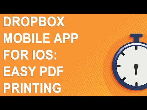 Dropbox Mobile App For IOS: Easy PDF Printing (NO YOUTUBE ADS)