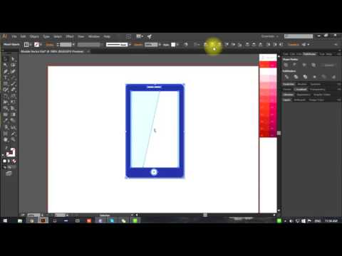 Creating Flat Mobile Phone Vectorin Illustrator