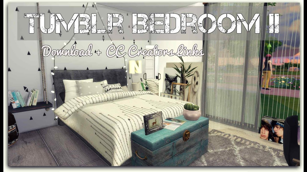 Sims 4 Tumblr Bedroom Ii Download Cc Creators Links