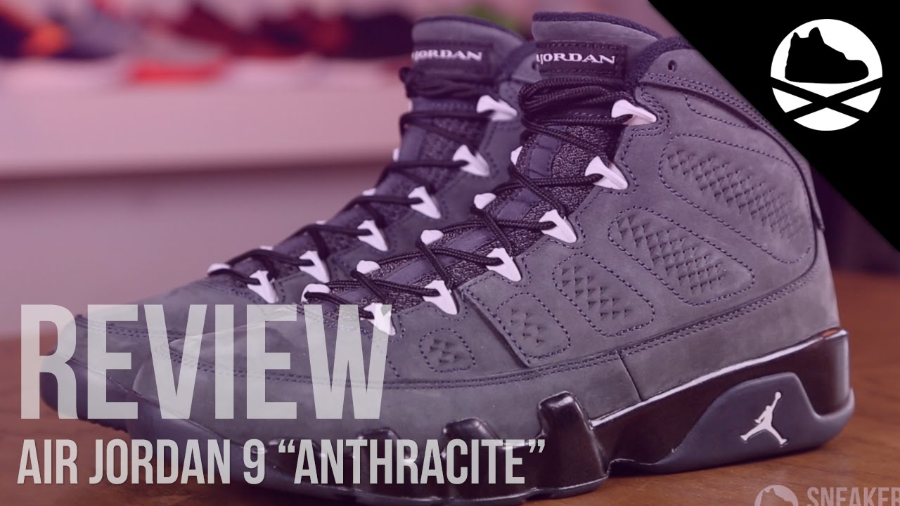 12f88916286ed Air Jordan 9 Anthracite - Review - YouTube