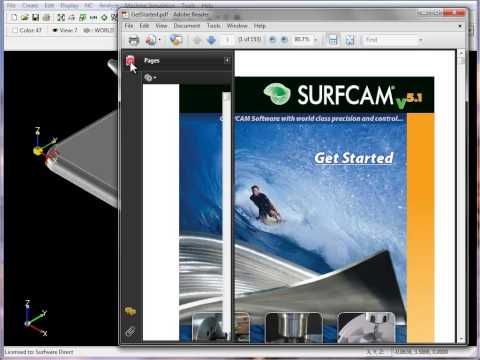 SURFCAM Tutorial - Main Screen: Navigation and Help