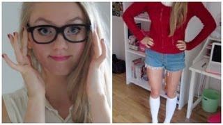 Cute Nerd Halloween Makeup, Hair & Outfit! Thumbnail