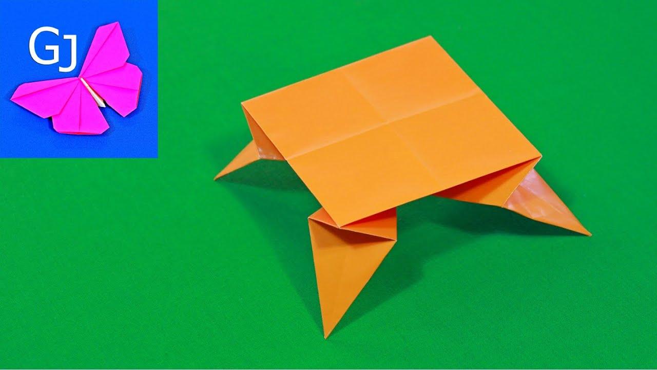 Оригами Стол из бумаги ❀ Мебель для кукол своими руками