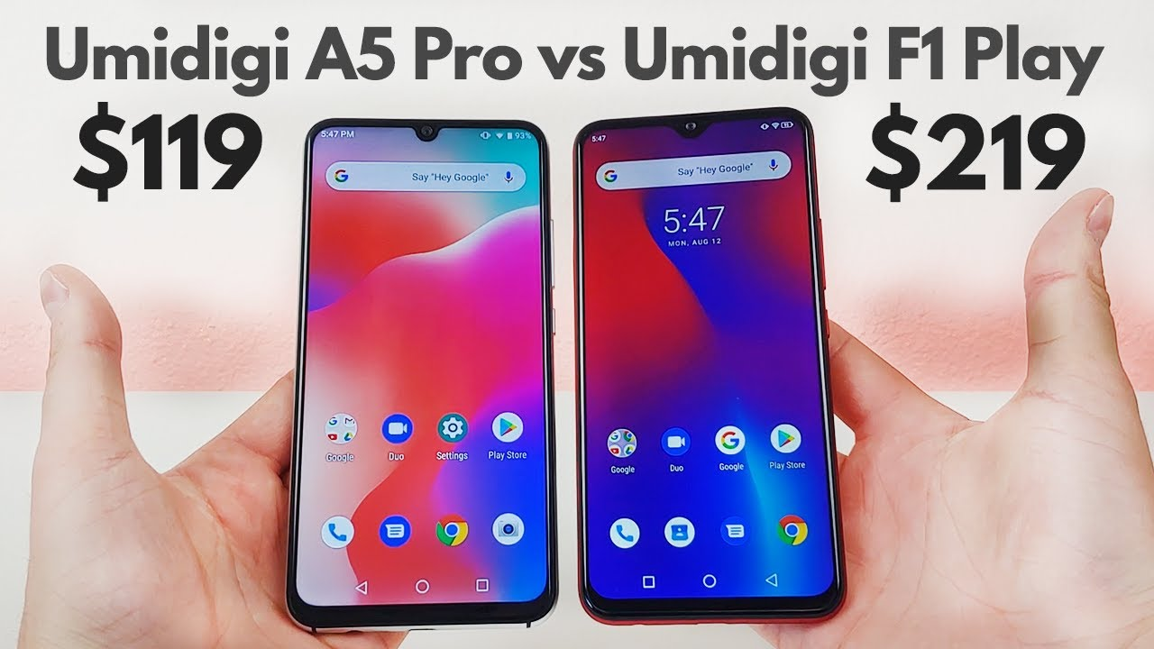 Umidigi A5 Pro vs Umidigi F1 PLAY - Which is a Better Deal?