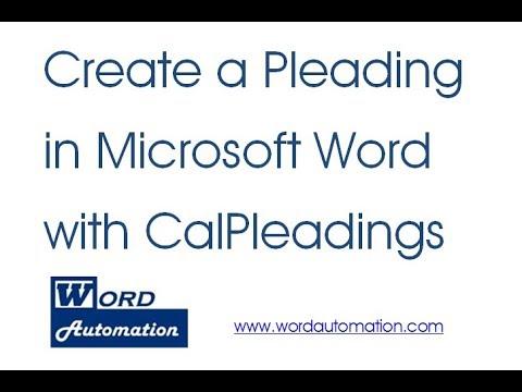 california pleading format with calpleadings youtube
