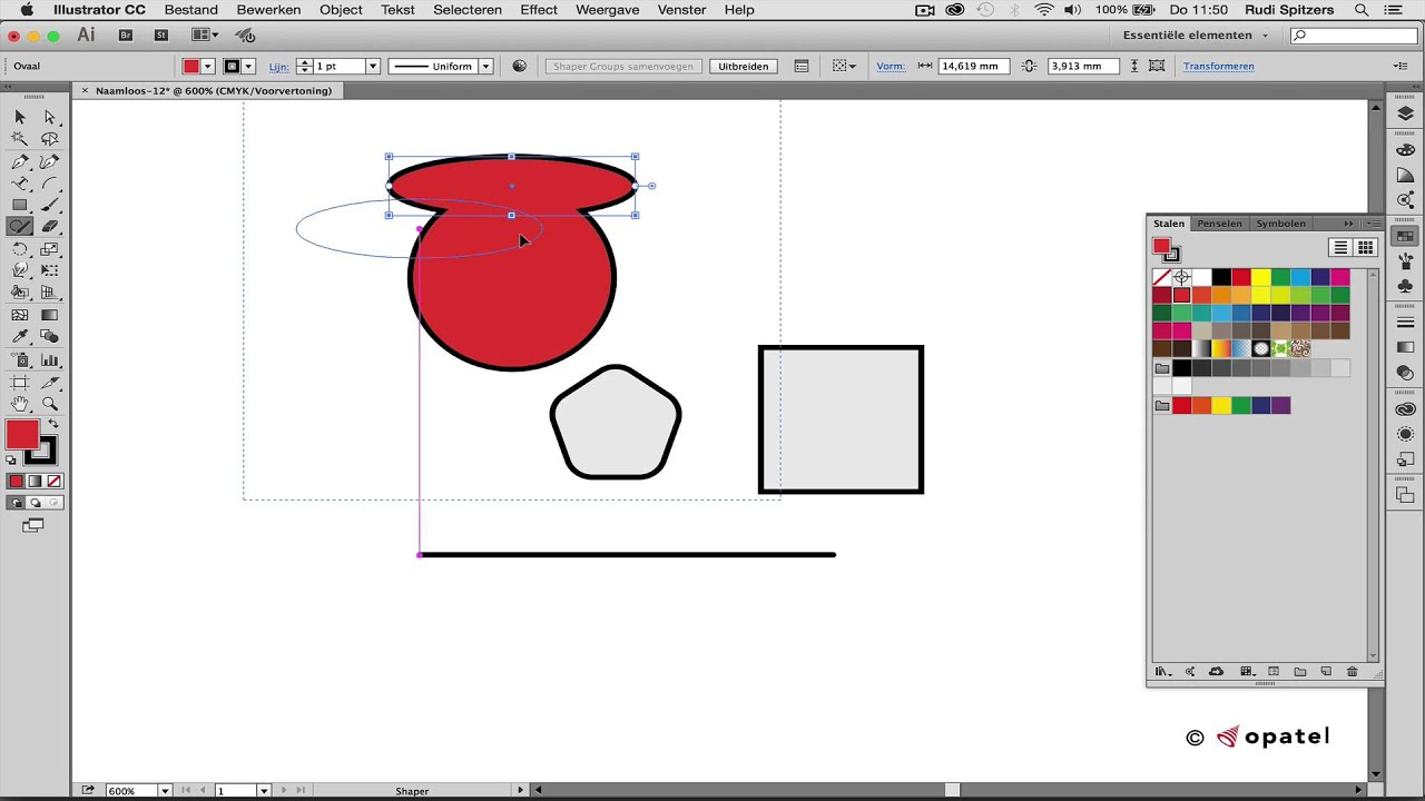 Vormen Samenvoegen En Uit Elkaar Halen In Illustrator Youtube