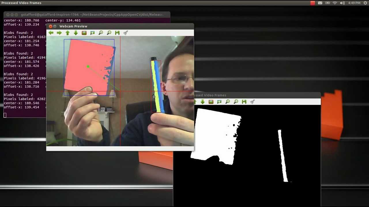 Object Tracking Based on a Color-Range using C++, OpenCV