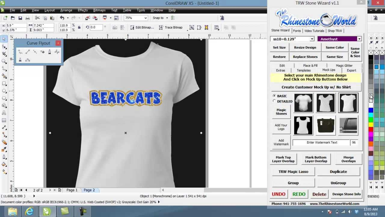 How To Make A Quick Glitter Team Name Shirt Design With Layers Trw Stone Wizard Youtube