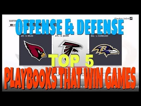 TOP 5 BEST OFFENSE & DEFENSE PLAYBOOKS IN MADDEN 19 FOR MUT & CFM! TIPS  TRICKS