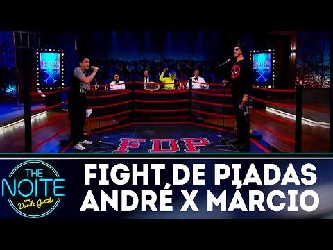 Fight de Piadas: André Santi x Márcio Américo - Ep.14   The Noite (21/06/18)