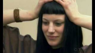 Long with bangs haircut compilation