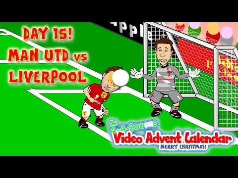 👹Man Utd vs Liverpool 3-0🐓 DAY 15(Rooney Mata Van Persie goals highlights 2015 Brad Jones Cartoon)