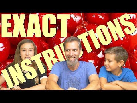 Exact Instructions Challenge 100 Step | Josh Darnit Family 2018