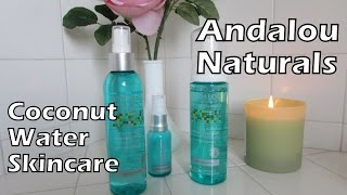 review andalou naturals coconut water quenching line   mature sensitive skin