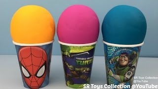 Play Doh Surprise Cups and Eggs Monsters University Disney Princess Frozen Paw Patrol Peppa Pig Toys