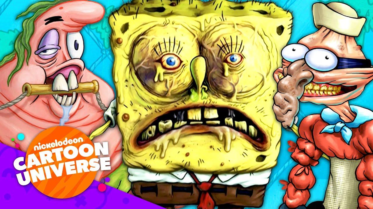 72 of SpongeBob's GROSSEST Moments! 🤢 | Nickelodeon Cartoon Universe