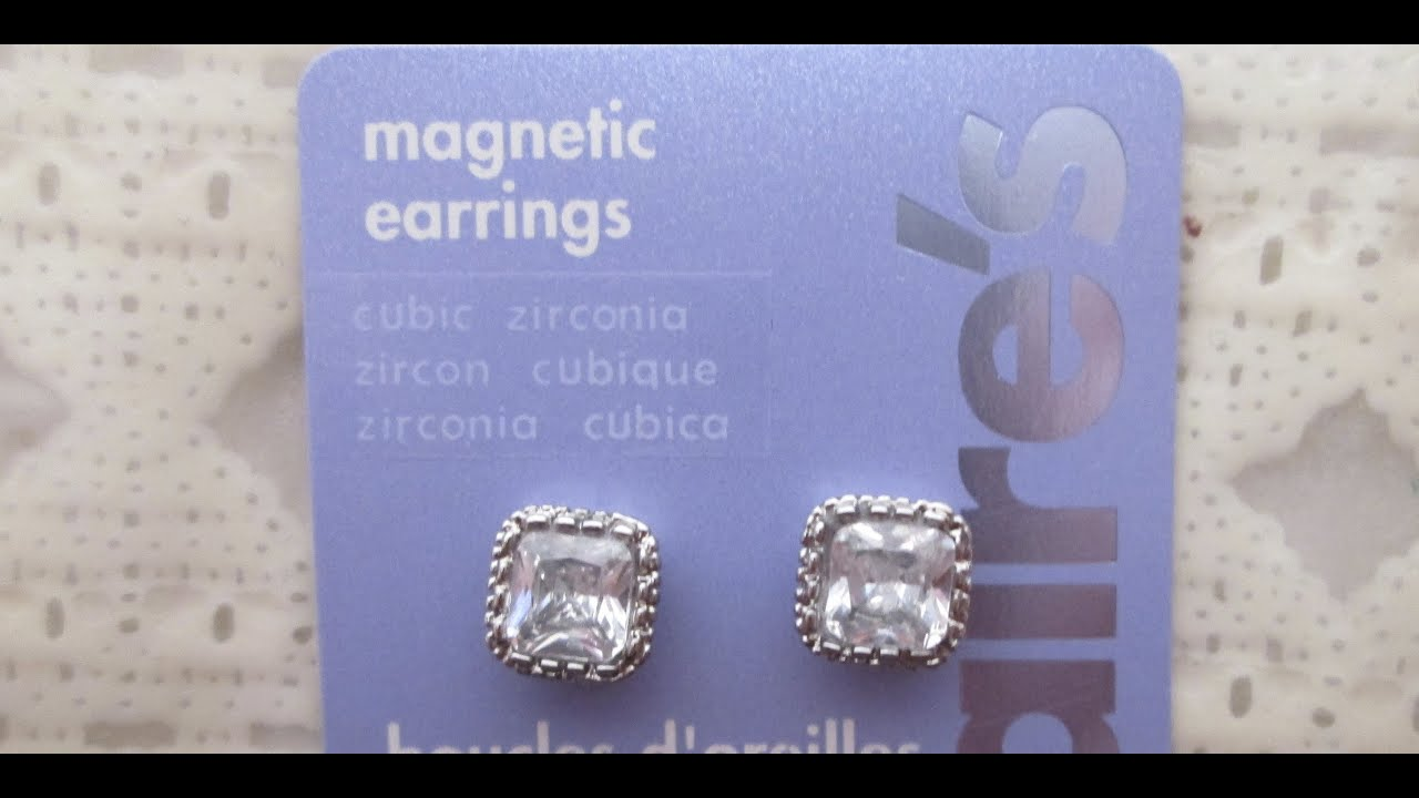 MAGNETIC EARRINGS FROM CLAIRE'S - YouTube