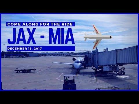 (2017) American Airlines | ✈️⛅Jacksonville Airport (JAX) - Miami International Airport (MIA) ⛅✈️