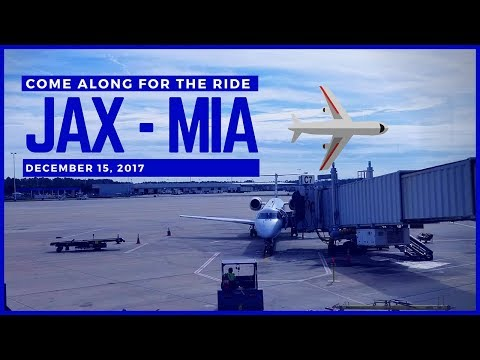 (2017) American Airlines | ✈️⛅Jacksonville Airport (JAX) - Miami International Airport (MIA) ⛅✈️