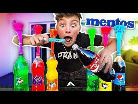 EXPERIMENT SODA vs MENTOS vs 1000 BALLOONS!! (What Happens?) Coca Cola vs Mentos Challenge