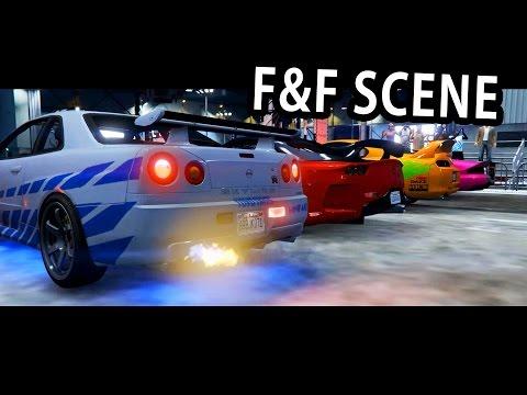 GTA V - 2 Fast 2 Furious Skyline scene