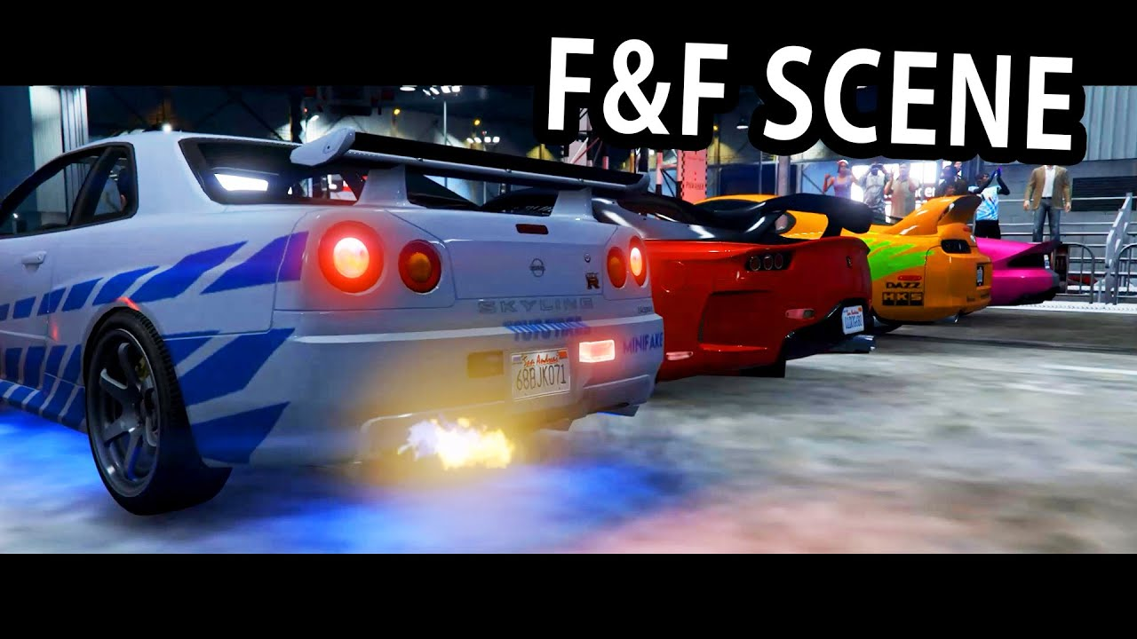 GTA V 2 Fast 2 Furious Skyline Scene YouTube