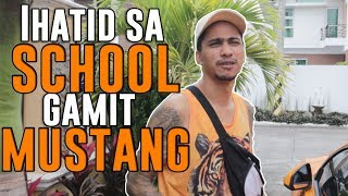 Ihatid Sa School Gamit Mustang