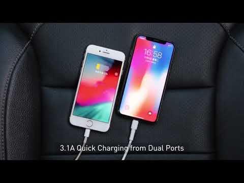 Baseus BS-01 Bluetooth Car Kit Energy Column Car Wireless MP3 Charger