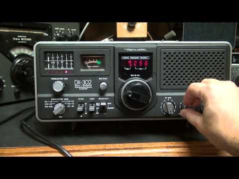 Realistic DX-302 Shortwave receiver Ham Radio Receiver Demo