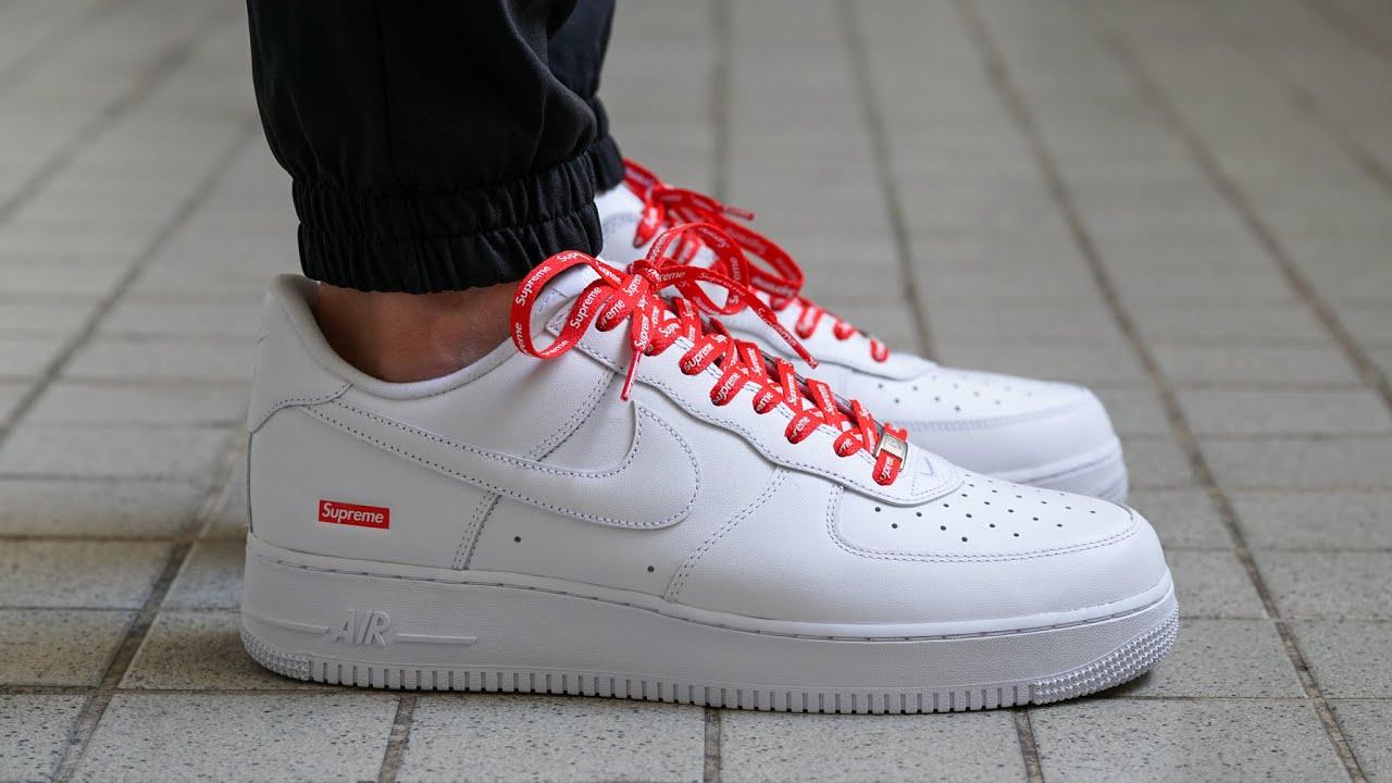 SUPREME Nike Air Force 1 - REVIEW \u0026 ON