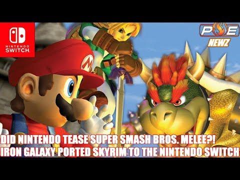 Nintendo Switch - Super Smash Bros. Melee Hinted?! Iron Galaxy Developed Skyrim Switch!