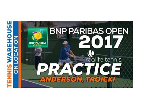 Kevin Anderson Practice at the BNP Paribas Open 2017 Part 2