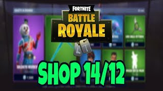 Today's SHOP 14 DECEMBER on FORTNITE: new skin SOLDATO NEVISCHIO and PICCONE GHIACCIOLO