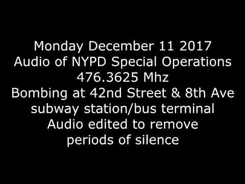 NYPD SOD Dec 11 2017 Port Authority Bombing