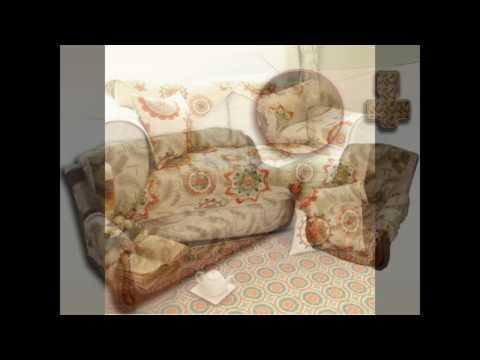 Покрывала с подлокотниками на диваны и кресла