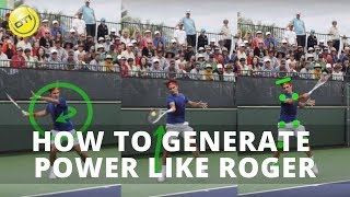 Roger Federer Forehand: How To Generate Power Like Roger