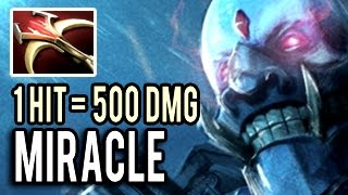 Miracle- is NOT Human 1 HIT = 500 Damage Imba ! Super Carry Lich Gameplay Dota 2