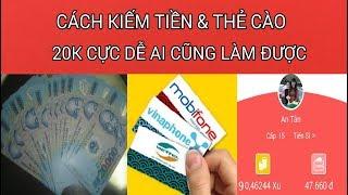 Cách kiếm tiền mặt 20k thẻ cào uy tín mỗi ngày - Đọc báo kiếm tiền