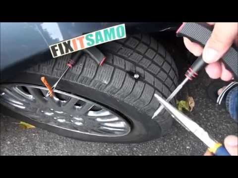 DIY How To Fix A Flat Tire EASY!