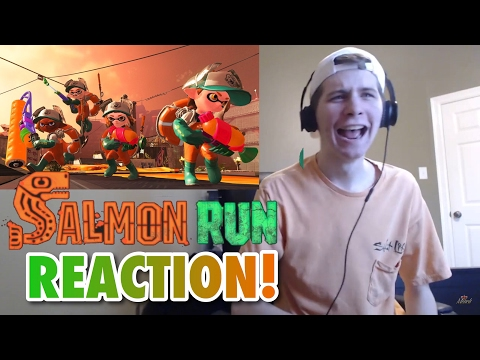 Splatoon 2 Salmon Run (Horde Mode) Reveal REACTION!!