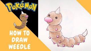 How to Draw Weedle No.13 | Pokemon