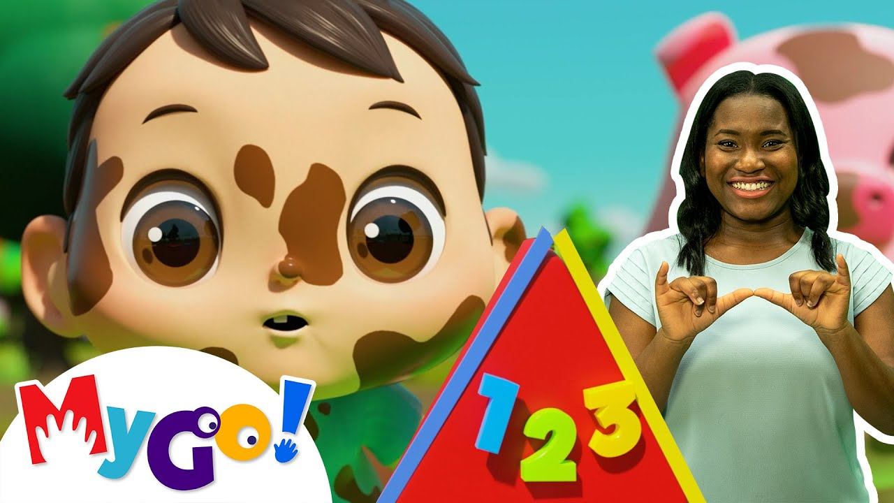 Learn Shapes Colors and Numbers Song | Sign Language For Kids | Kids Cartoon | Little Baby Bum | ASL