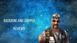 Backbone and Chopper Fortnite Skin REVIEW
