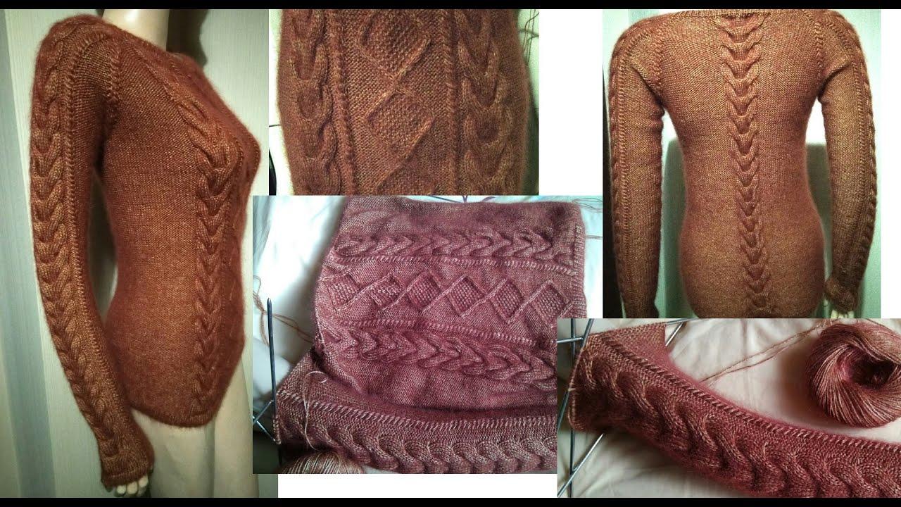 Бесшовное вязание свитера реглан