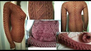 Анонс МК по вязанию бесшовного свитерка регланом сверху вниз 46 размера/ how to crochet sweater
