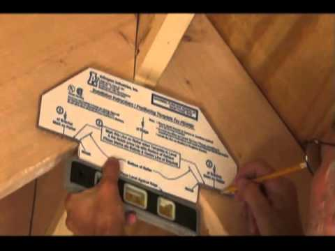 how to install a ceiling fan box